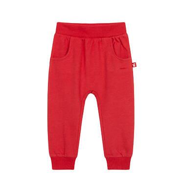 Spodnie dresowe dla dziecka do 2 lat, czerwone N04K017_1