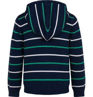 Endo - Sweter dla chłopca, z kapturem, w paski, granatowy, 9-13 lat C04B028_1 54