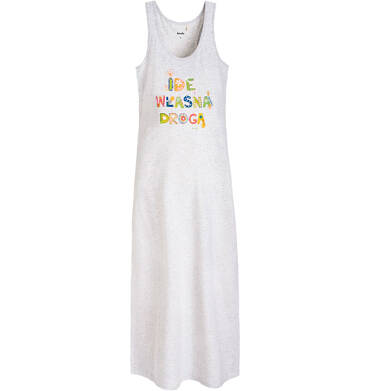 Endo - Długa sukienka  damska na ramiączkach Y61H003_1