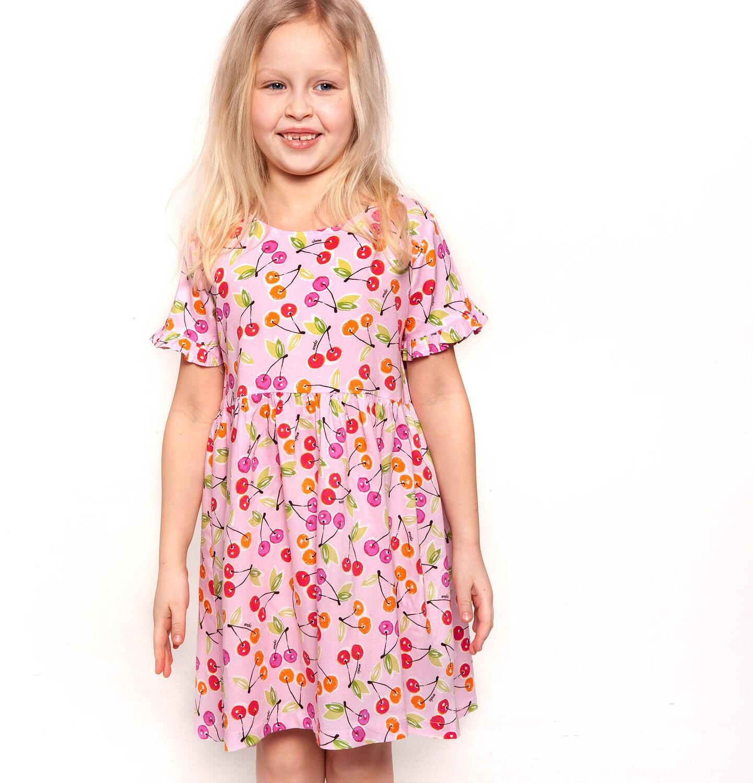 Endo - Sukienka z krótkim rękawem dla dziewczynki 3-8 lat D91H023_1