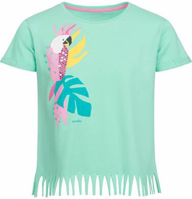 Endo - Bluzka z krótkim rękawem dla dziewczynki, z papugą, zielona, 9-13 lat D03G563_1