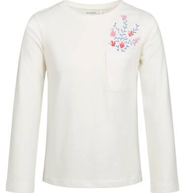 Endo - Bluzka z długim rękawem dla dziewczynki, z kieszonką, porcelanowa, 6-8 lat D03G198_1,1