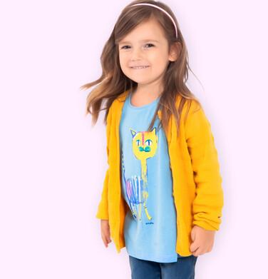 Endo - Sweter dla dziewczynki, rozpinany, żółty, 2-8 lat D04B002_1 20
