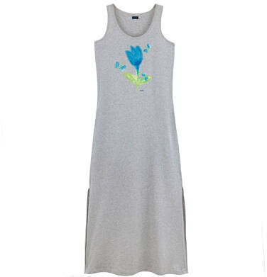 Endo - Długa sukienka  damska na ramiączkach Y61H005_1