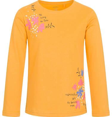 Endo - Bluzka z długim rękawem dla dziewczynki, żółta, 2-8 lat D03G200_1 33