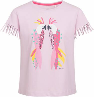 Endo - Bluzka z krótkim rękawem i frędzlami dla dziewczynki, barwne papużki, 9-13 lat D03G564_1
