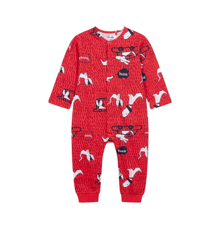 Endo - Pajac dla dziecka do 2 lat, czerwony N04N013_1