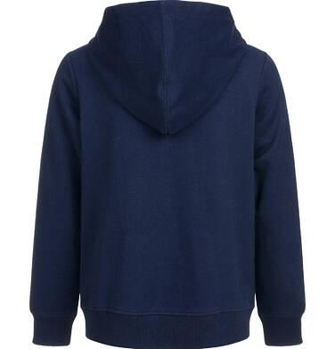 Endo - Rozpinana bluza z kapturem dla chłopca, gram, granatowa, 2-8 lat C03C010_1,2