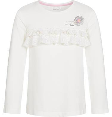 Endo - Bluzka z długim rękawem dla dziewczynki 9-13 lat D92G612_3