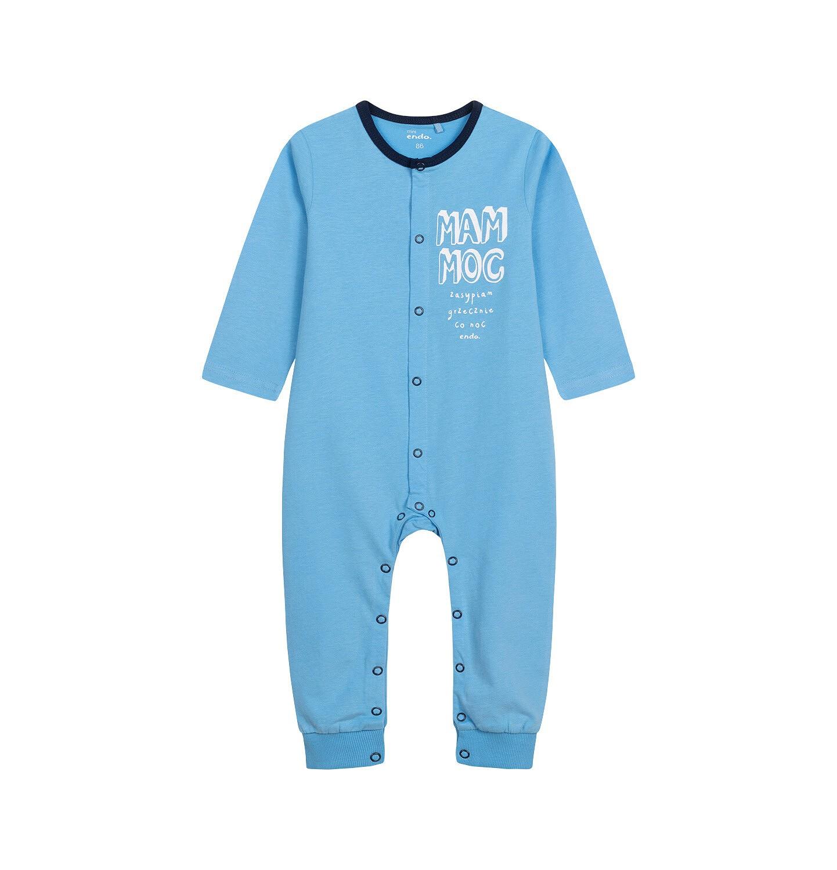 Endo - Pajac dla dziecka do 2 lat, z napisem, niebieski N05N025_3