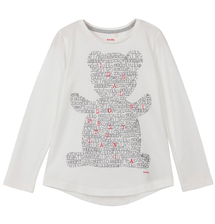 Endo - Bluzka z długim rękawem dla dziewczynki 9-12 lat D62G592_1