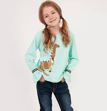 Endo - Bluzka z długim rękawem dla dziewczynki, z dinozaurem, miętowa, 2-8 lat D04G110_1 61