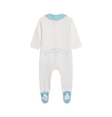 Endo - Pajac dla dziecka do 2 lat, z kołnierzykiem i napisem z tyłu, kremowy N05N028_1 4
