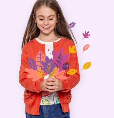 Endo - Sweter dla dziewczynki, rozpinany, pomarańczowy, 2-8 lat D04B007_1 33