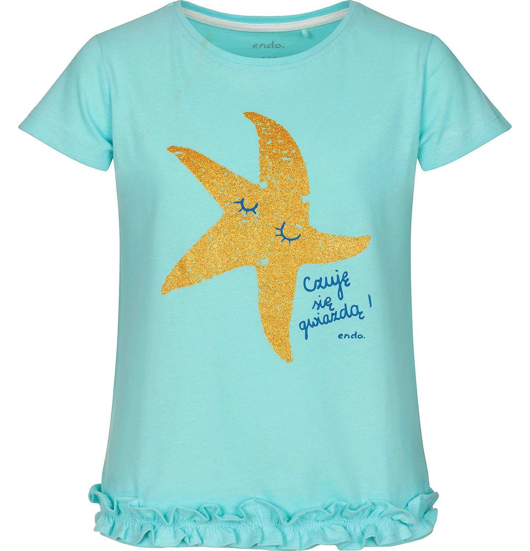 Endo - Bluzka z krótkim rękawem dla dziewczynki 3-8 lat D91G121_1