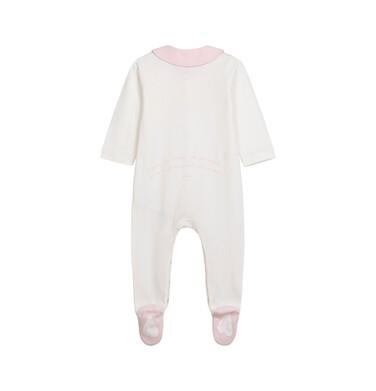 Endo - Pajac dla dziecka do 2 lat, z kołnierzykiem i napisem z tyłu, kremowy N05N029_1 3