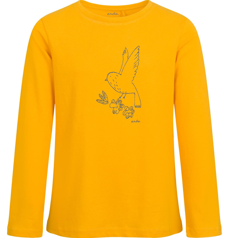Endo - Bluzka z długim rękawem dla dziewczynki, żółta, 9-13 lat D04G124_2