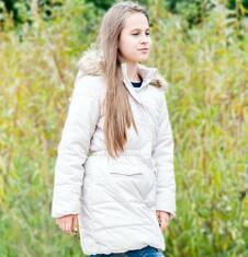 Endo - Długi płaszcz zimowy dla dziewczynki 9-13 lat D72A515_1