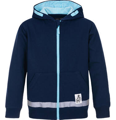 Bluza rozpinana z kapturem dla chłopca 9-13 lat C91C516_1