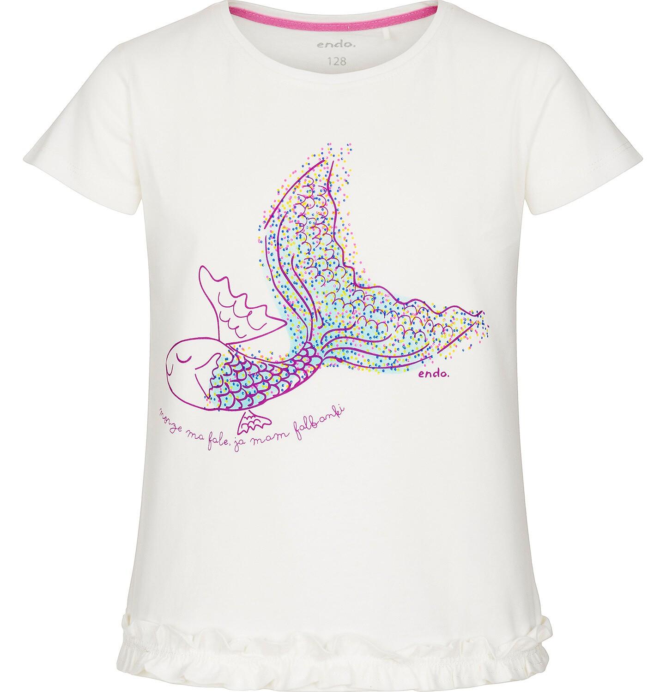 Endo - Bluzka z krótkim rękawem dla dziewczynki 3-8 lat D91G123_1