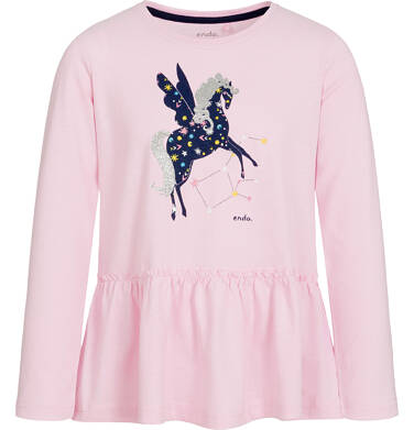 Endo - Bluzka z długim rękawem dla dziewczynki 9-13 lat D92G580_2
