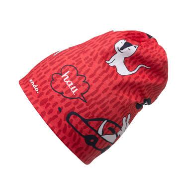 Endo - Czapka dla dziecka, czerwona N04R012_1 13