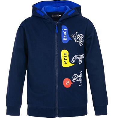 Bluza rozpinana z kapturem dla chłopca 3-8 lat C91C020_1