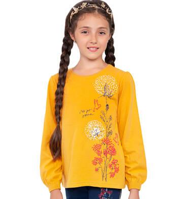 Endo - Bluzka z długim rękawem dla dziewczynki, kwiatowy motyw, żółta, 9-13 lat D04G137_1 6