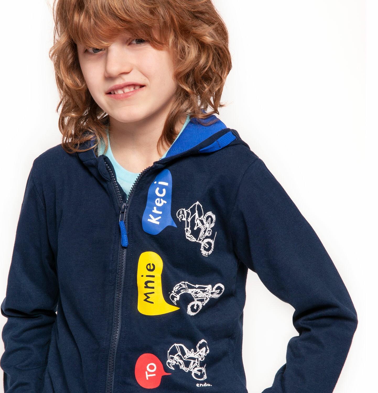 Endo - Bluza rozpinana z kapturem dla chłopca 9-13 lat C91C520_1