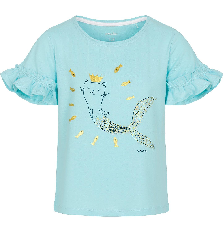 Endo - Bluzka z krótkim rękawem dla dziewczynki 3-8 lat D91G124_1