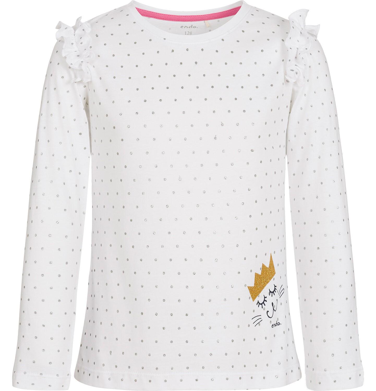 Endo - Bluzka z długim rękawem dla dziewczynki 9-13 lat D92G522_1