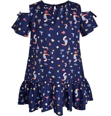 Endo - Sukienka z krótkim rękawem dla dziewczynki 3-8 lat D81H045_1