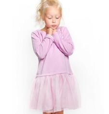 Endo - Sukienka z tiulową falbanką dla dziewczynki 9-13 lat D72H517_1
