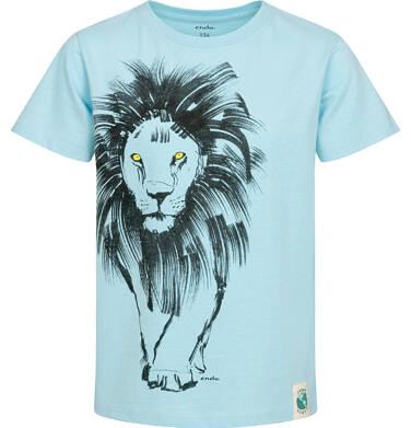 Endo - T-shirt z krótkim rękawem dla chłopca, z lwem, niebieski, 9-13 lat C05G073_1 7