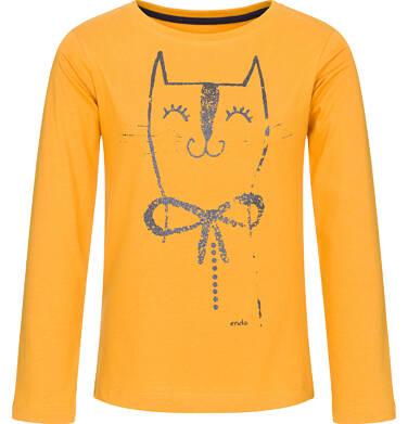 T-shirt z długim rękawem dla dziewczynki 9-13 lat D92G524_1