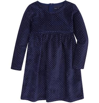 Endo - Welurowa sukienka z odcięciem dla dziewczynki 3-8 lat D72H038_1