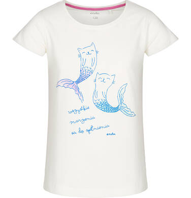 T-shirt z krótkim rękawem dla dziewczynki 3-8 lat D91G126_1