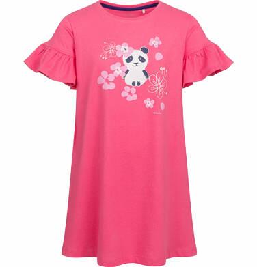 Endo - Sukienka z krótkim rękawem, z pandą, różowa, 2-8 lat D03H003_1