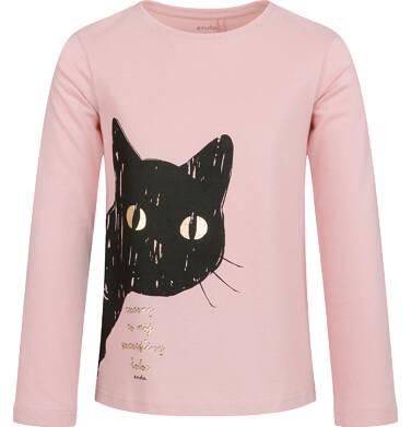 Endo - Bluzka z długim rękawem dla dziewczynki, z kotem, różowa, 9-13 lat D03G696_1 97