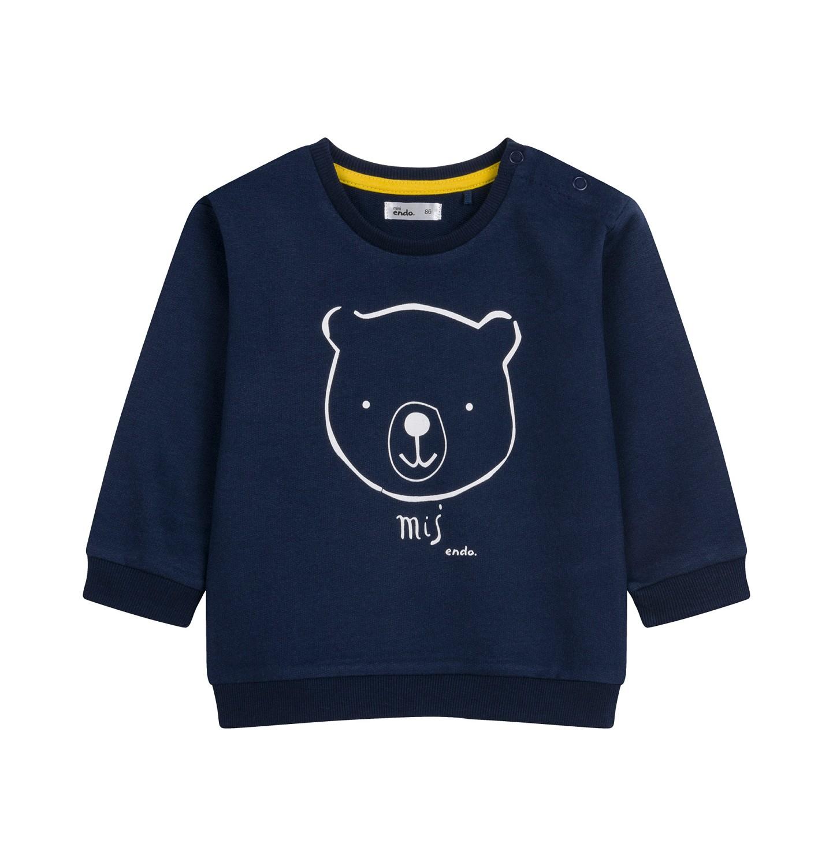 Endo - Bluza dla dziecka do 2 lat, granatowa N04C028_1