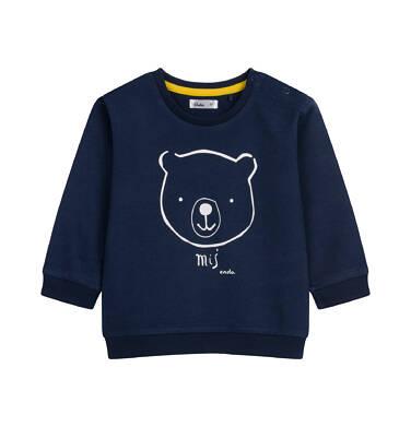 Bluza dla dziecka do 2 lat, granatowa N04C028_1