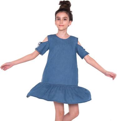 Endo - Sukienka dżinsowa dla dziewczynki 9-13 lat D81H517_1