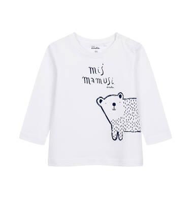 T-shirt z długim rękawem dla dziecka do 2 lat, biały N04G051_1