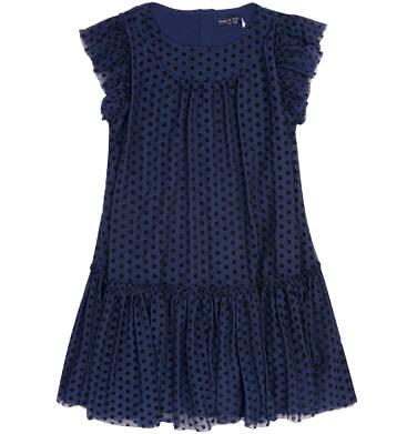 Endo - Tiulowa sukienka w groszki dla dziewczynki 3-8 lat D72H039_1