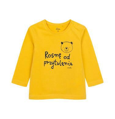 Endo - T-shirt z długim rękawem dla dziecka do 2 lat, żółty N04G052_1 12