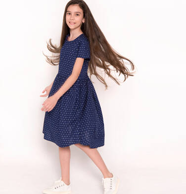 Sukienka z krótkim rękawem dla dziewczynki 9-13 lat D81H553_1