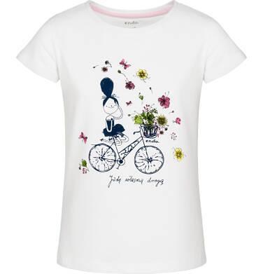 T-shirt z krótkim rękawem dla dziewczynki 9-13 lat D91G636_1