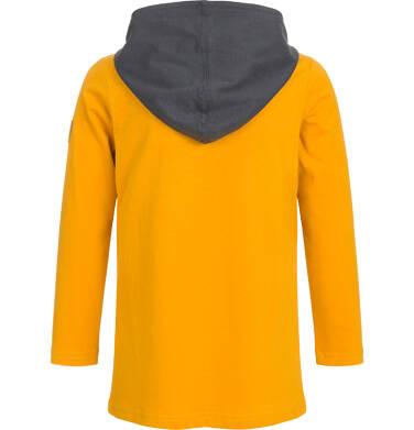 Endo - Koszulka z długim rękawem i kapturem dla chłopca, nie wywołuj misia z lasu, ciemnomusztardowa, 9-13 lat C92G549_1,2