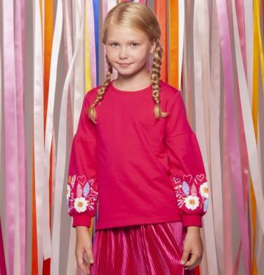 Endo - Bluza z długim rękawem dla dziewczynki 3-8 lat D82C028_2