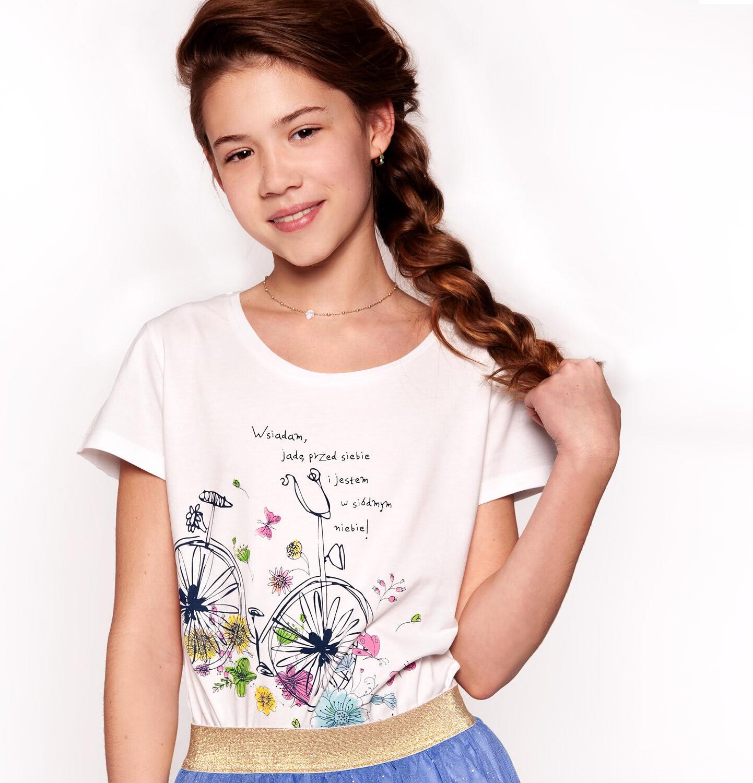 Endo - T-shirt z krótkim rękawem dla dziewczynki 3-8 lat D91G137_1